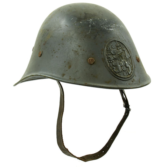 Original Dutch WWII Model 1934 Helmet with Helmet Plate