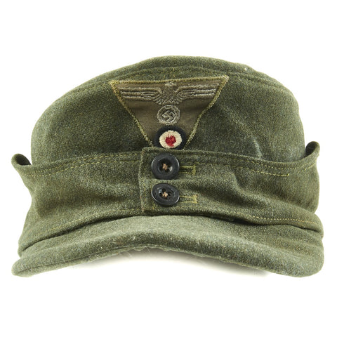 Original German WWII 1945 Dated M43 Heer Field Cap - RBNr Marked