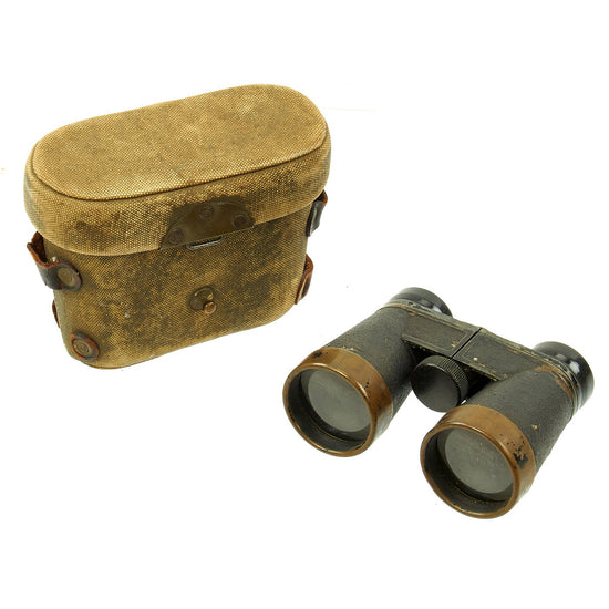 Original WWII Imperial Japanese Army Officer Binoculars with Tropical Case