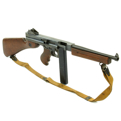 Original U.S. WWII Thompson M1A1 Display Submachine Gun with Steel Display Receiver - Serial 192439 Original Items
