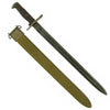 "show larger image of product view 1 : Original U.S. WWI & WWII M1905 Springfield 16"" Rifle Bayonet marked S.A. with WWII M3 Scabbard - dated 1918 Original Items"