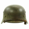 show larger image of product view 3 : Original German WWII Army Heer M40 Single Decal Steel Helmet with Camouflage Paint and Size 56 Liner - ET64