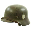 show larger image of product view 4 : Original German WWII Army Heer M40 Single Decal Steel Helmet with Camouflage Paint and Size 56 Liner - ET64