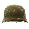 show larger image of product view 3 : Original German WWII Army Heer M40 Steel Helmet with Textured Camouflage Paint and Size 57 Liner - Q64 Original Items