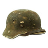 show larger image of product view 4 : Original German WWII Army Heer M40 Steel Helmet with Textured Camouflage Paint and Size 57 Liner - Q64 Original Items