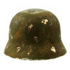 show larger image of product view 5 : Original German WWII Army Heer M40 Steel Helmet with Textured Camouflage Paint and Size 57 Liner - Q64 Original Items