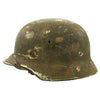 show larger image of product view 2 : Original German WWII Army Heer M40 Steel Helmet with Textured Camouflage Paint and Size 57 Liner - Q64 Original Items