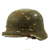 show larger image of product view 6 : Original German WWII Army Heer M40 Steel Helmet with Textured Camouflage Paint and Size 57 Liner - Q64 Original Items