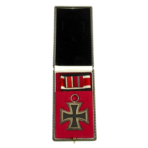 Original German WWII Iron Cross 2nd Class 1939 by Hanau Plaque Association with Ribbon in Case Original Items