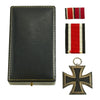 show larger image of product view 2 : Original German WWII Iron Cross 2nd Class 1939 by Hanau Plaque Association with Ribbon in Case Original Items
