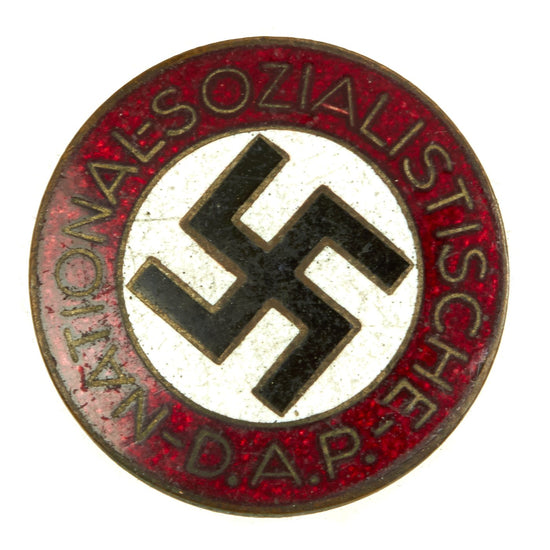 Original German NSDAP Party Enamel Membership Badge Pin by Kerbach & Israel - RZM M1/42 Original Items