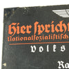 show larger image of product view 7 : Original German WWII Sign der NSDAP Public Announcement Board - Emailleschild Original Items