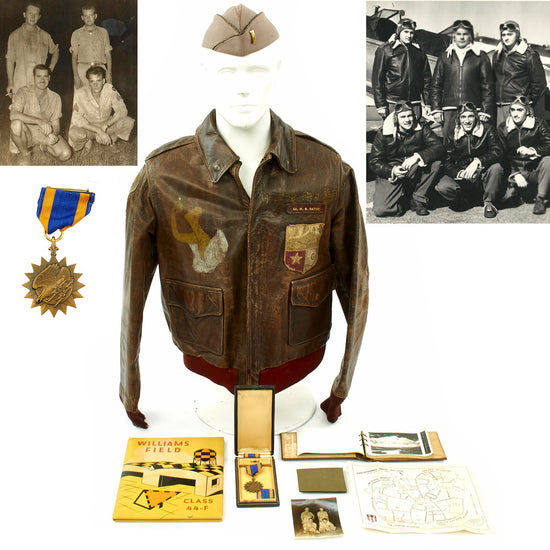 Original U.S. WWII China Burma India Hump Pilot Named A-2 Jacket Grouping Original Items