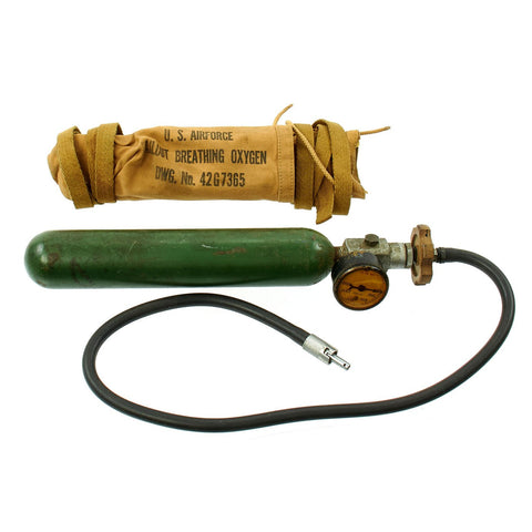 Original U.S. WWII Army Air Force Bailout Breathing Oxygen Bottle Type H-1 Original Items