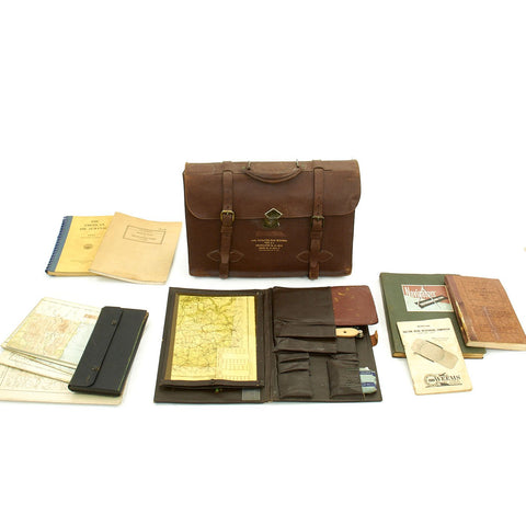 Original U.S. WWII Type A-4 Navigator's Dead Reckoning Case with Contents Original Items
