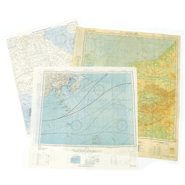 Original U.S. WWII Set of 3 USAAF Double Sided Escape Maps of the South Pacific - dated 1943 & 1944