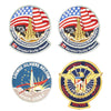 show larger image of product view 8 : Original U.S. NASA Space Shuttle Challenger Disaster and Columbia Mission Patches - Set of 28 Original Items