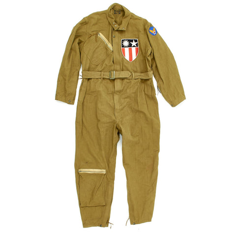 Original U.S. WWII Army Air Force Summer Type A-4 Flight Suit with CBI Patch Original Items