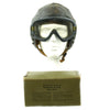 show larger image of product view 2 : Original U.S. WWII Army Air Forces Aviator A-11 Flight Helmet with K-14 Earphones and M-1944 Goggles in Case