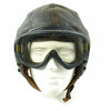 show larger image of product view 3 : Original U.S. WWII Army Air Forces Aviator A-11 Flight Helmet with K-14 Earphones and M-1944 Goggles in Case