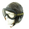 show larger image of product view 5 : Original U.S. WWII Army Air Forces Aviator A-11 Flight Helmet with K-14 Earphones and M-1944 Goggles in Case