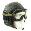 show larger image of product view 12 : Original U.S. WWII Army Air Forces Aviator A-11 Flight Helmet with K-14 Earphones and M-1944 Goggles in Case