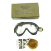 show larger image of product view 4 : Original U.S. WWII Army Air Forces Aviator A-11 Flight Helmet with K-14 Earphones and M-1944 Goggles in Case