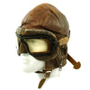 show larger image of product view 2 : Original WWII Royal Canadian Air Force RCAF Leather Flying Helmet with 1942 dated MkIII Goggles Original Items