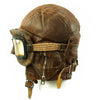 show larger image of product view 3 : Original WWII Royal Canadian Air Force RCAF Leather Flying Helmet with 1942 dated MkIII Goggles Original Items