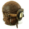 show larger image of product view 5 : Original WWII Royal Canadian Air Force RCAF Leather Flying Helmet with 1942 dated MkIII Goggles Original Items