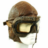 show larger image of product view 6 : Original WWII Royal Canadian Air Force RCAF Leather Flying Helmet with 1942 dated MkIII Goggles Original Items