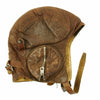 show larger image of product view 8 : Original WWII Royal Canadian Air Force RCAF Leather Flying Helmet with 1942 dated MkIII Goggles Original Items