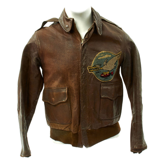Original U.S. WWII 600th Bomb Squadron Painted A-2 Flight Jacket