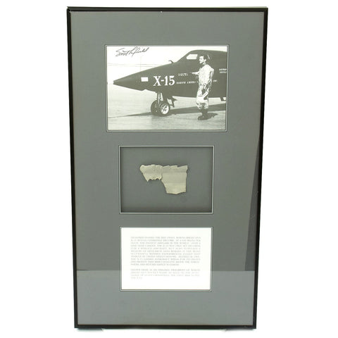 Original U.S. Fragment from North American X-15 Rocket Plane flown by Scott Crossfield with Signed Photo Original Items