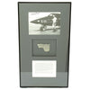 show larger image of product view 1 : Original U.S. Fragment from North American X-15 Rocket Plane flown by Scott Crossfield with Signed Photo Original Items
