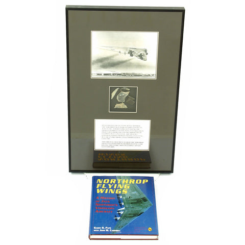 Original U.S. Artifacts from Crashed Northrop YB-49 Flying Wing Experimental Bomber with Book and Signed Photograph Original Items