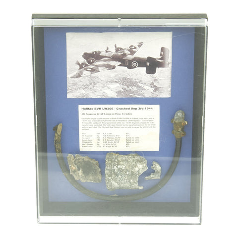 Original British WWII Fragments from R.C.A.F. H.P.63 Halifax B.VII Bomber LW206 - Crashed 3 Sept. 1944 Original Items