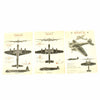 show larger image of product view 2 : Original U.S. WWII Set of 3 USAAF Aircraft Identification Posters: German Heinkel 111 + British Stirling & Halifax Original Items