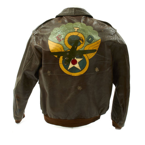 Original U.S. WWII 8th Air Force Named and Painted A-2 Flight Jacket Original Items