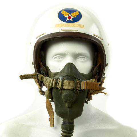 Original U.S. Korean War Air Force Type P1A Flying Helmet with MS-22001 Oxygen Mask Original Items