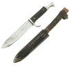show larger image of product view 2 : Original German WWII Early Nickel-Plated Hitler Youth Knife by Emil Voos with Scabbard Original Items