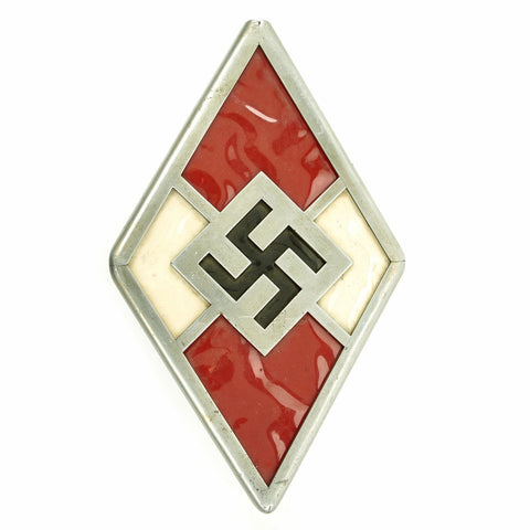 Original German WWII Hitler Youth Door or Wall Diamond Sign Original Items