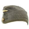 show larger image of product view 2 : Original German WWII Luftwaffe EM-NCO 56cm M38 Overseas Wool Cap Dated 1942 - Schiffchen Original Items
