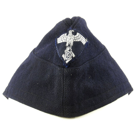 Original German WWII TENO Technical Emergency Corps M38 Overseas Wool Cap Original Items