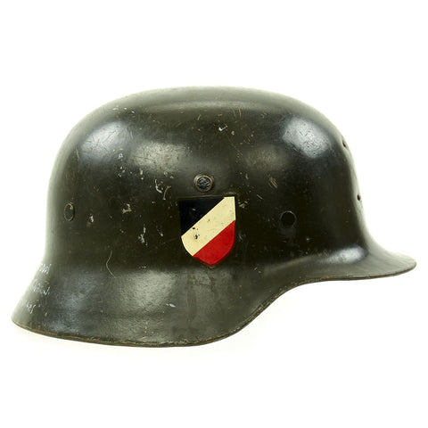 Original German WWII Heer Army M35 Helmet from MGM Studios used in Garrison's Gorillas - E.T.64 Original Items