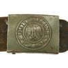 show larger image of product view 3 : Original German WWII Army Heer Belt with Steel Buckle and Two 98k Triple Pouches - dated 1942 & 1943 Original Items
