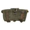show larger image of product view 2 : Original German WWII Naval Black Leather Mauser 98k Triple Pouch with Kriegsmarine Marking - dated 1942 Original Items
