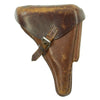 show larger image of product view 1 : Original German WWI P08 Luger Brown Leather Holster by Schulz & Co. with Bavarian Marking - dated 1918 Original Items
