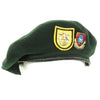 show larger image of product view 1 : Original U.S. Cold War Era 1st Special Forces Group Green Beret with Unit Badges - dated 1952 Original Items
