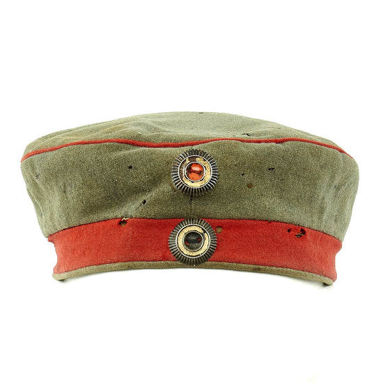 Original Imperial German WWI M1907 Feldmütze Field Cap with Prussian Cockade